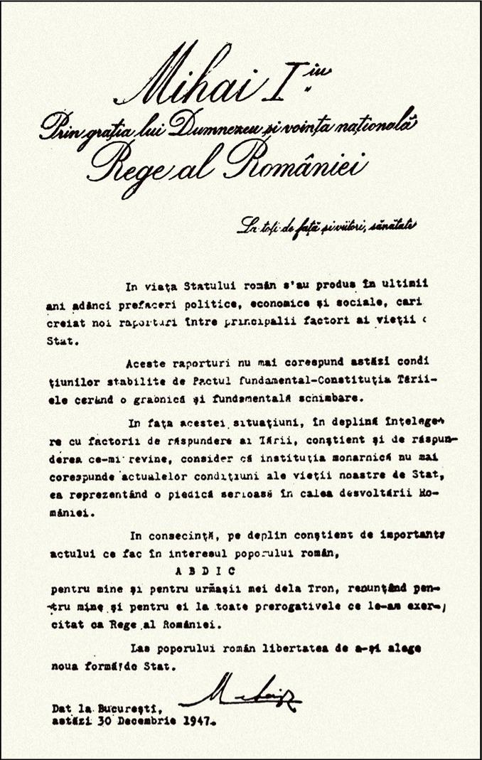 Act Abdicare Mihai 1947