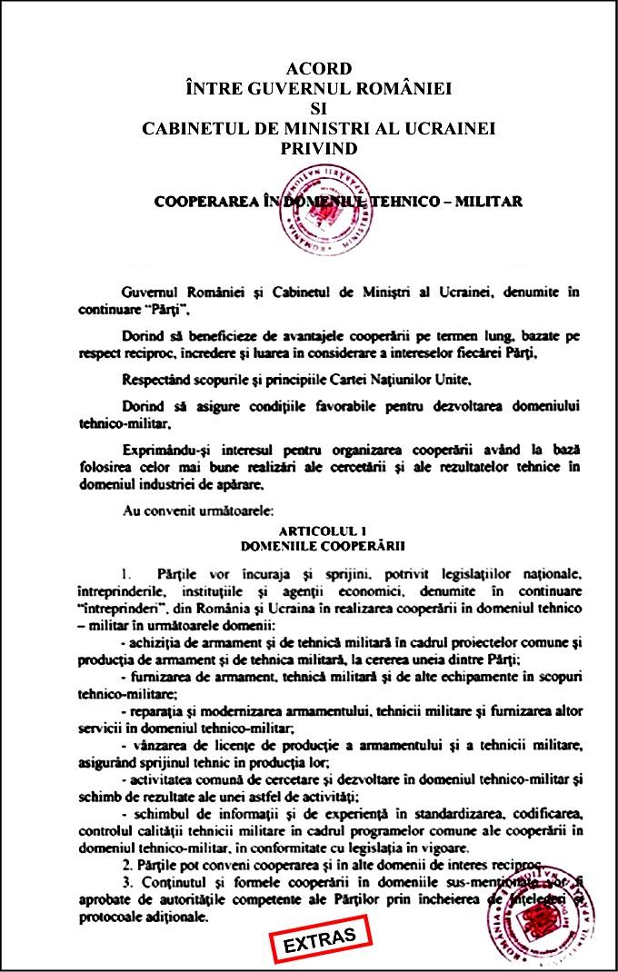 Acord militar RO-UKR2021