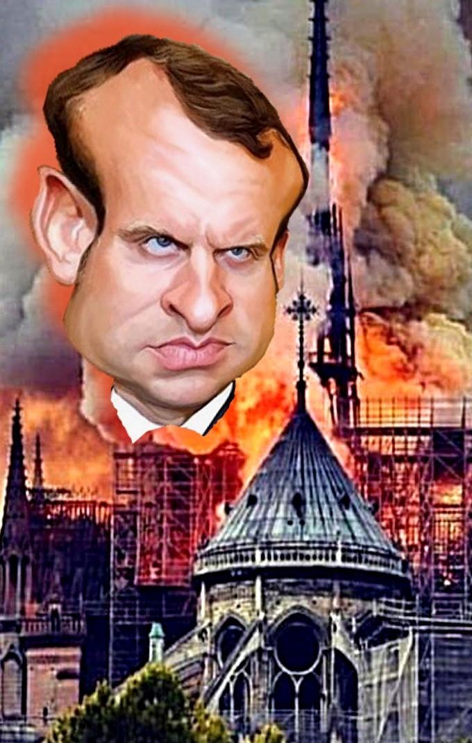 Manuel Macron & Notre Damme